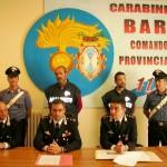 Un momento della conferenza stampa presso il Comando Provinciale Carabinieri
