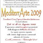 """Il manifesto istituzionale di """"Mediterrarte 2009"""""""