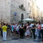 Bisceglie, Via Giulio Frisari chiesa di Santa Croce
