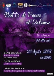 Notte di Poesia al Dolmen - IV edizione