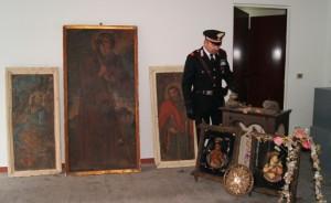 Le opere d'arte recuperate dai Carabinieri