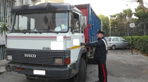 Carabinieri Ruvo. Il camion carico di olive