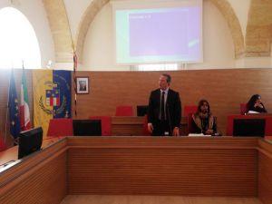 Il Presidente Francesco Spina nel corso del Consiglio Provinciale del 29 gennaio