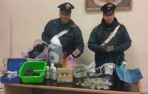 carabinieri Bari la droga sequestrata
