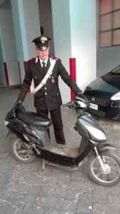 Lo scooter utilizzato per la fuga