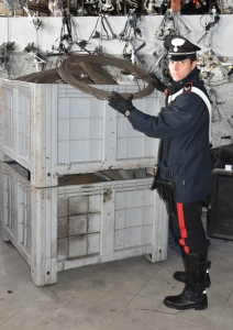 carabinieri SAMMICHELE rame recuperato