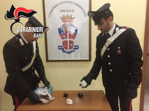 Gli stupefacenti sequestrati a Bisceglie dai Carabinieri